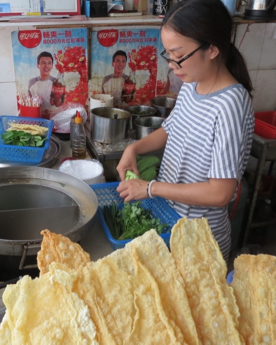 Offer selections of bean curd skin or pan-fried tofu