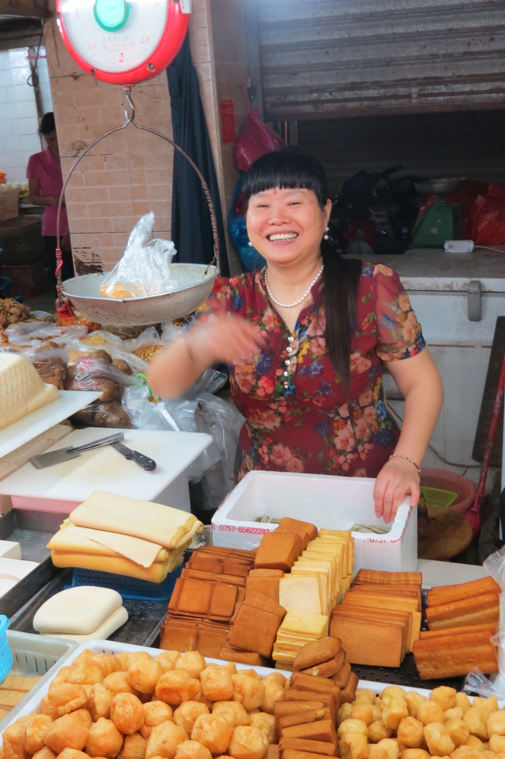 Tofu vendor in Guangzhou's Enning Road Market
