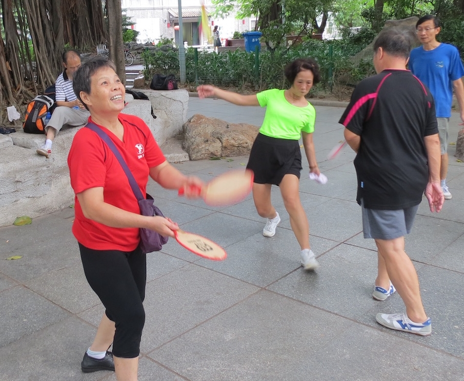 Fresh air and exercise in Guangzhou's Liwan Lake Park