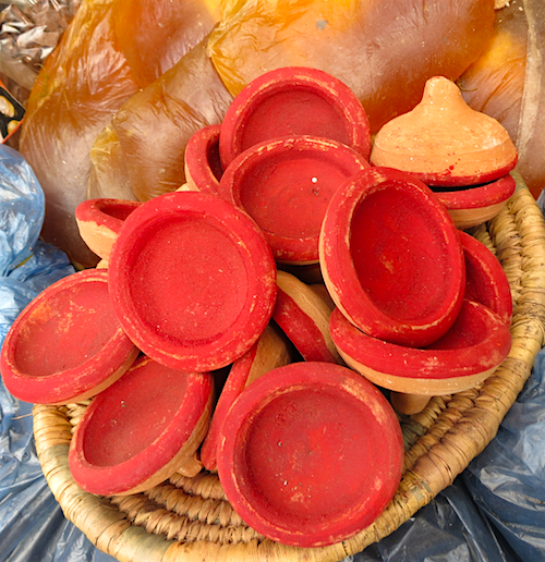 Akar el fassi is a natural red powder used to tint lips and cheeks in Morocco