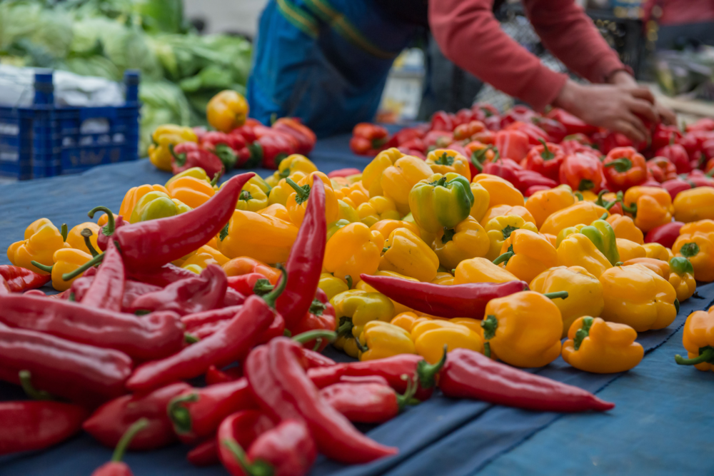 arranging peppers at Bakirkoy market.png