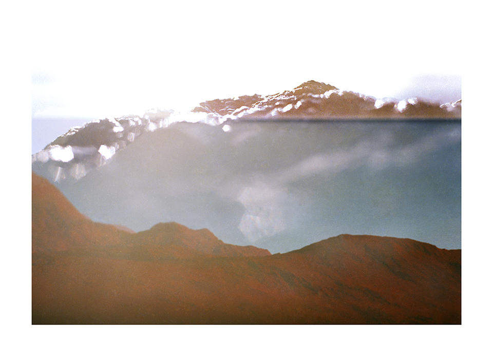 Glistening sun on Mount Vruud , from the series  Convergent Boundaries: Landscapes without Memory, Memory without Land
