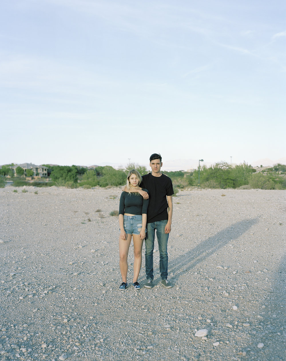 Hayli and Jeremias, 'The Pit,' Desert Park, Summerlin, Las Vegas   from the series   What makes grass grow in the desert
