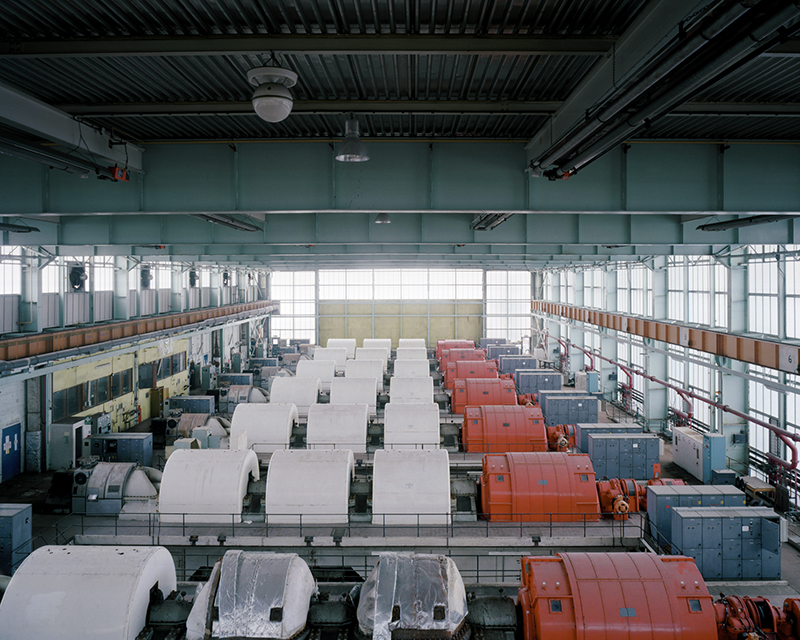 Photograph taken by Rebecca Vassie in 2008 of National Gas Turbine Establishment (Pyestock) which closed in 2000 (© Rebecca Vassie)