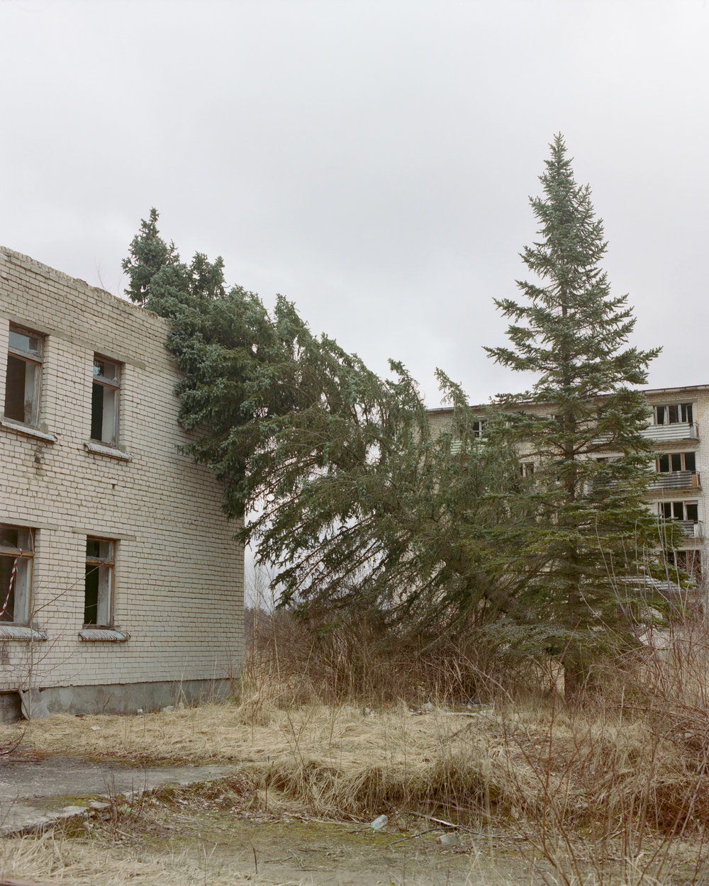 In the abandoned ex-Soviet military town of Skrunda-1, Latvia.