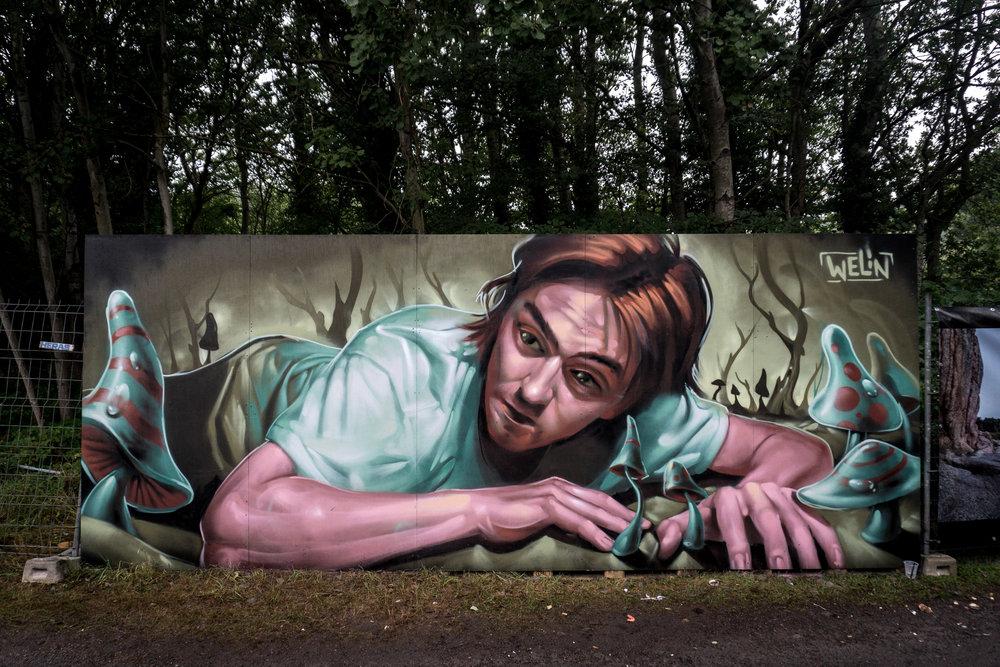 Street art-kunstner (Galleri Grisk)