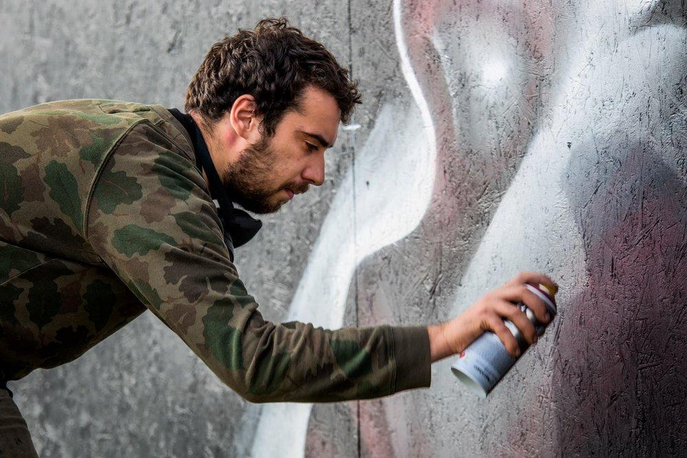 Street art-kunstner (Galler Grisk)