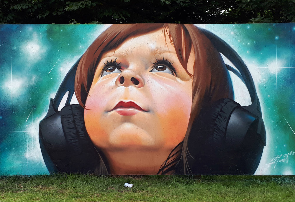 Street art kunstner (Galler Grisk)