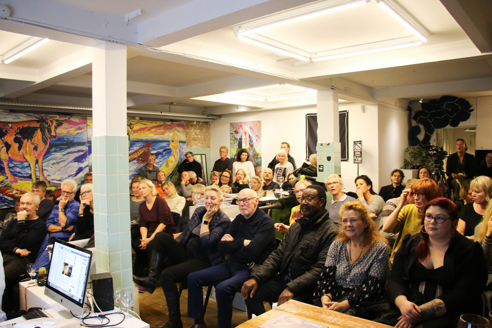 Publikum til artist talk