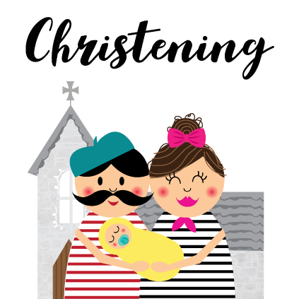 Christening Card by  Memelou