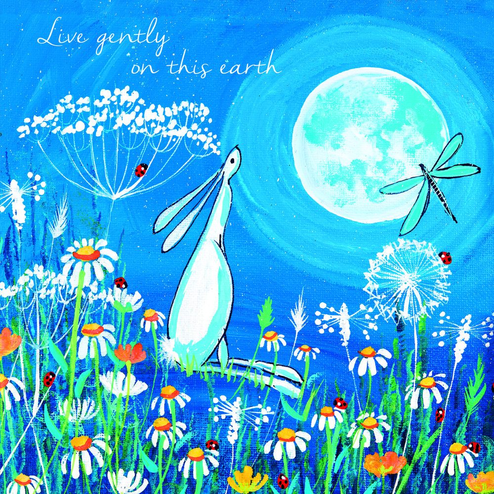 Live Gently on this Earth from Glebe Cottages best selling collection by Kate Andrew.jpg