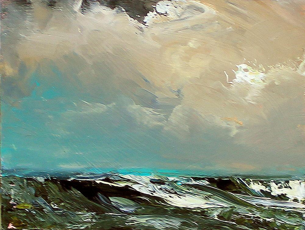 a whitby sea 3  23cm x 29cm acrylic on mill board framed.jpg