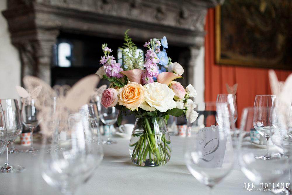 Leeds castle wedding florals