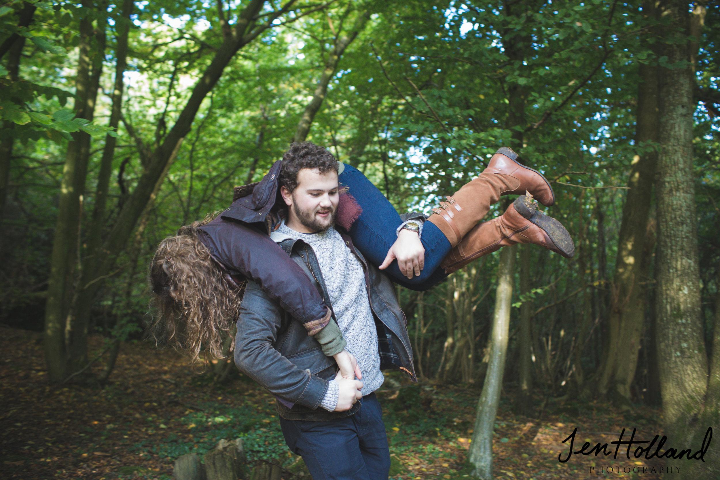 Couple engagement shoot, Larkey Valley Woods