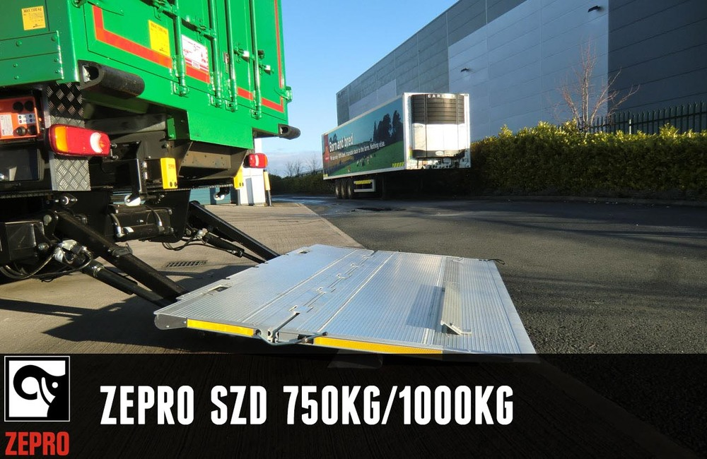 The medium duty slider lift, with double folding platform, specifically conceived for installation under a truck.