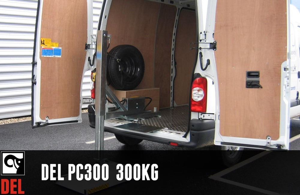 Internal Single Pillar Van Lift with 300kg capacity