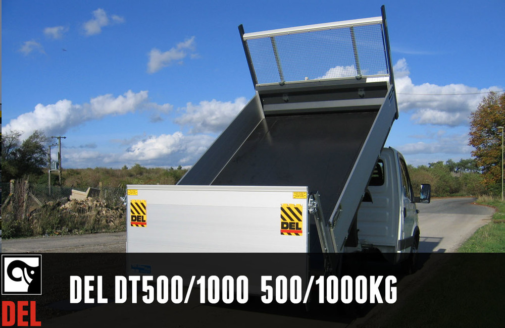 Dump Thru or Dump over column tail lift with 500/1000 kg lifting capacity
