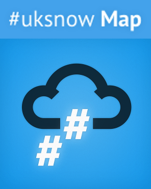 Inspiration: UK Snow Map uses crowd-sourced #uksnow tweets to draw an up-to-the-minute map of where it is currently snowing in the UK.