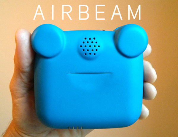 Inspiration: Airbeam is a wearable air monitor  that maps, graphs & crowdsources your pollution exposures in real-time.