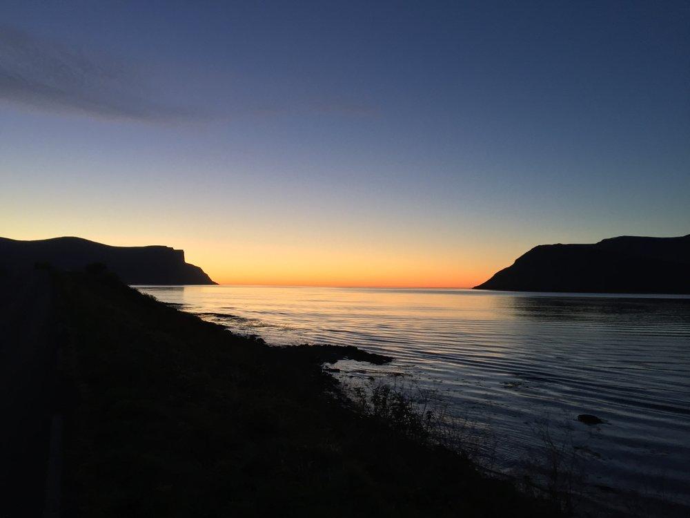 sunset westfjords