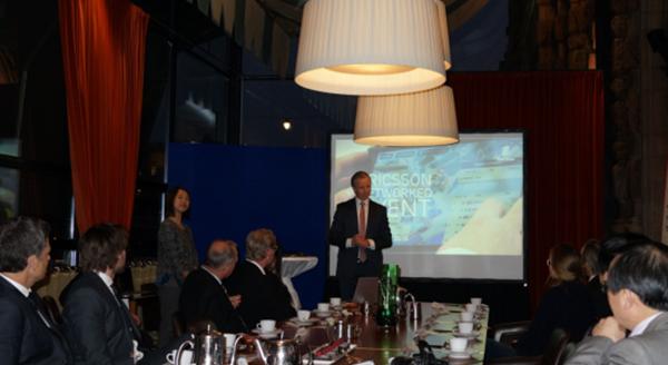 Mikael Sundtrom先生在介绍Ericsson体育赛事服务