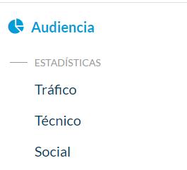Click en el menú Audiencia, Tráfico - Ingresa con tu cuenta en el sitio de administración de la app. para ver todas las estadísticas de descargas y de uso