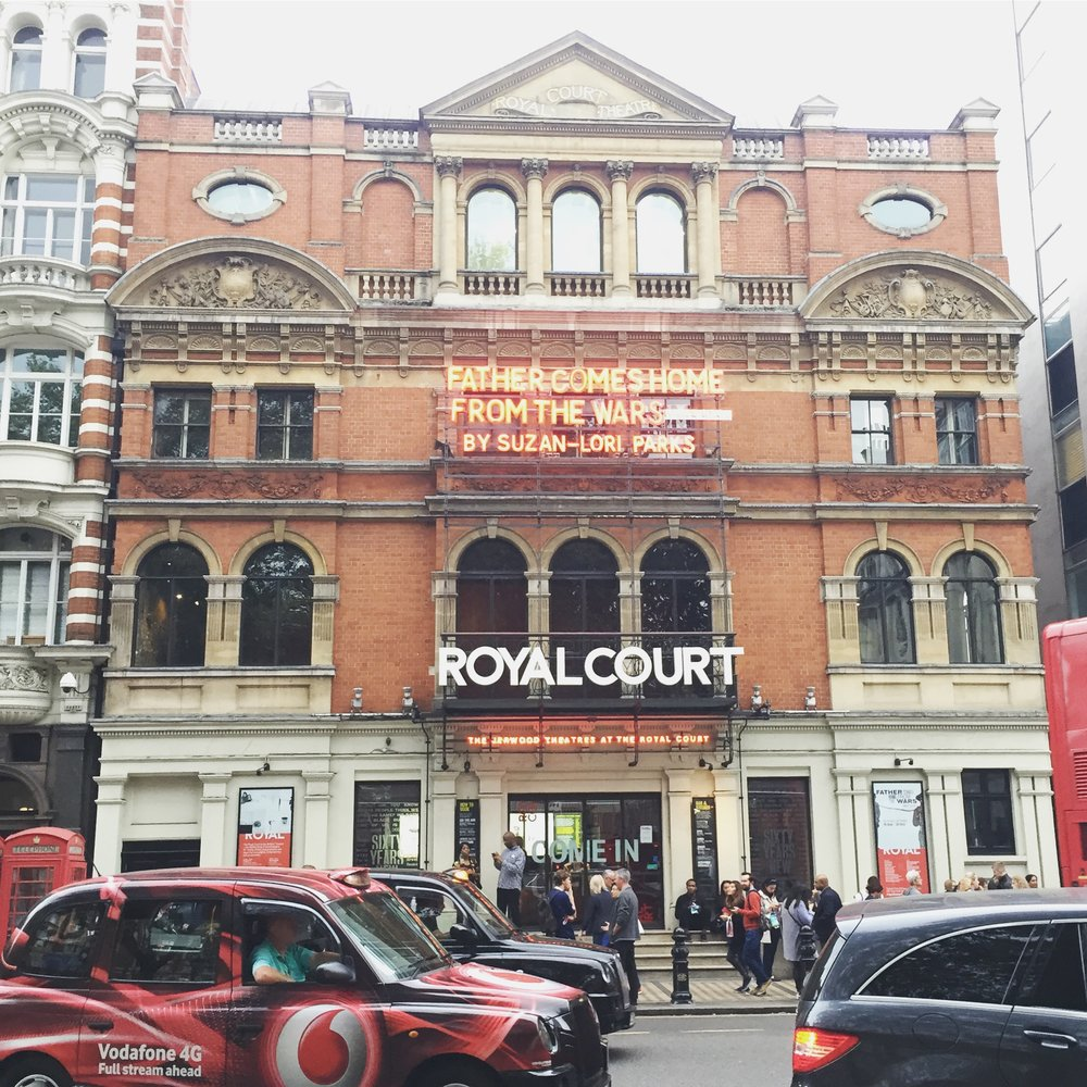 The exterior of the Royal Court Theatre in Sloane Square.