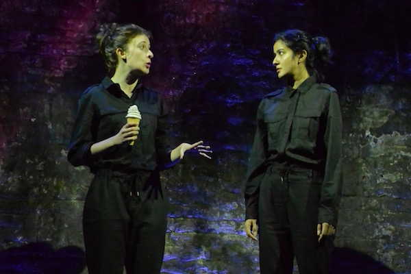 Sophie Steer and Rakhee Thakrar in Astronauts of Hartlepool. Image courtesy of the Vault Festival.