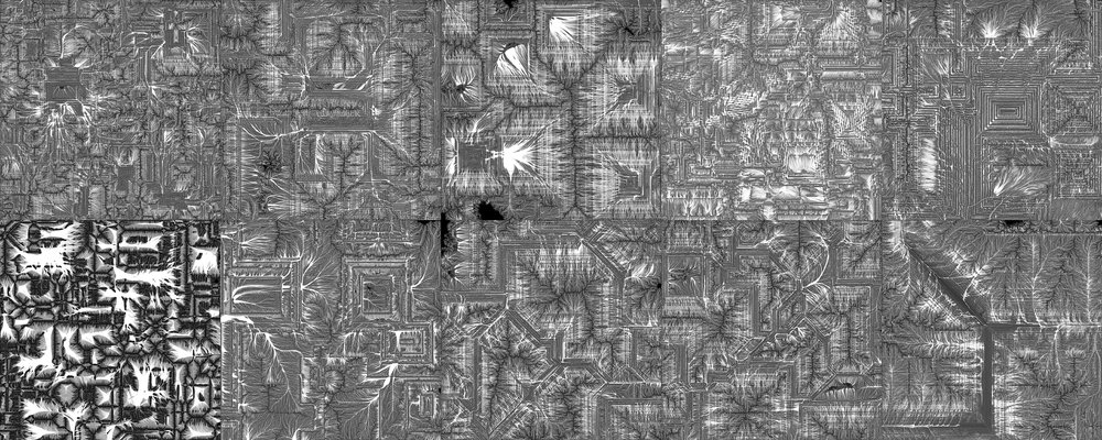 The 10 Flow Maps of the different Landscapes