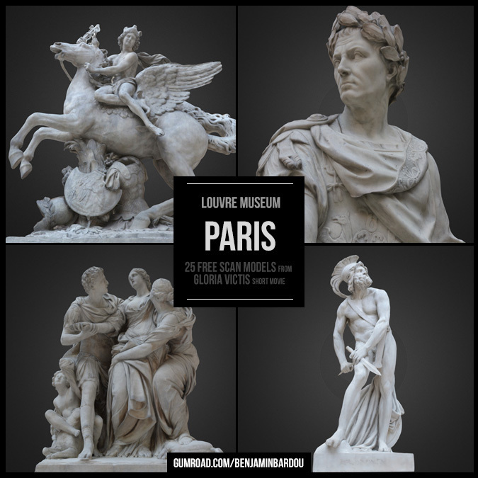 25 FREE 3D scans from Louvre Museum
