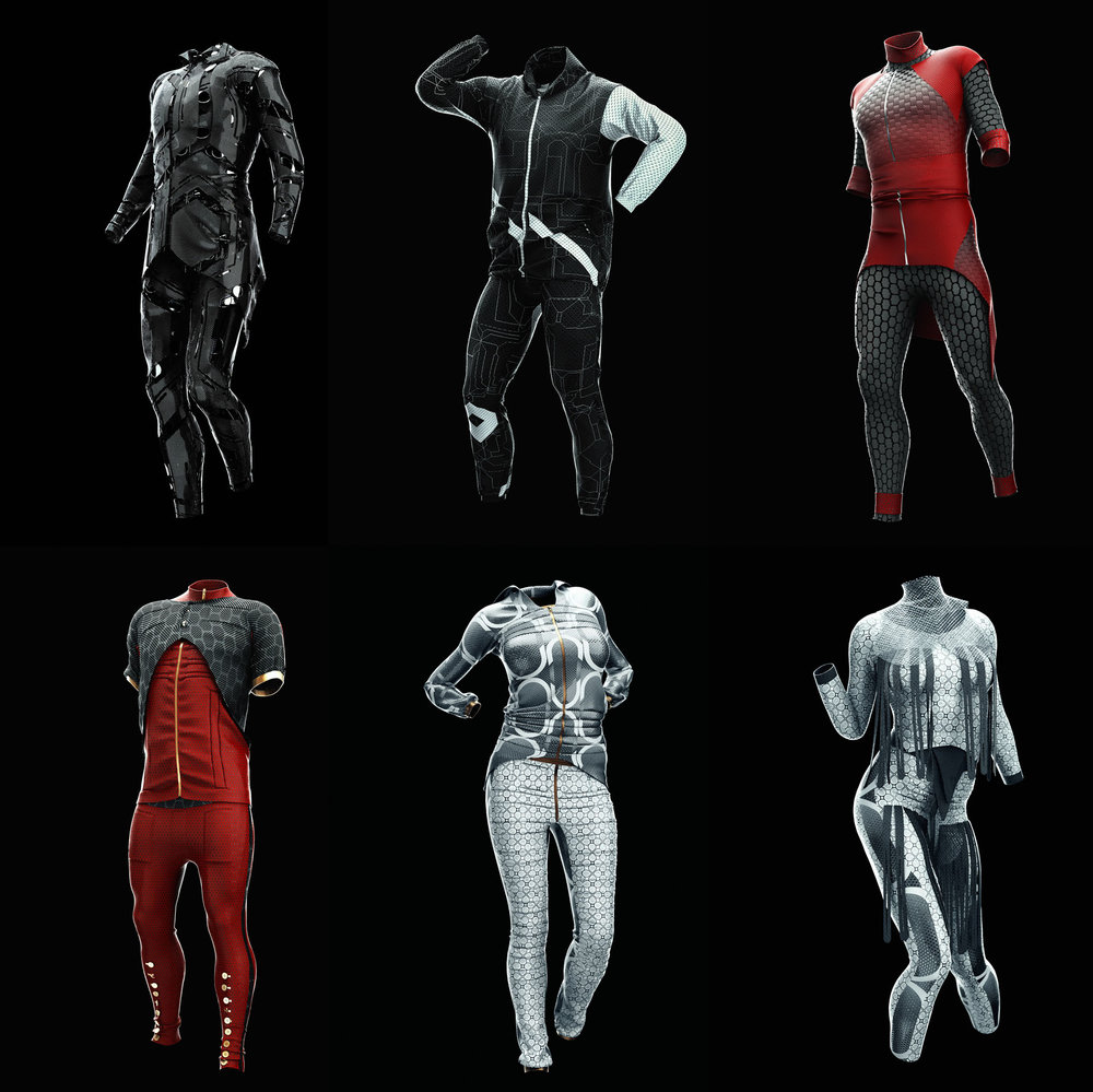 CyberPunk Clothing Project (6 Project Files for Cinema4D - Octane)