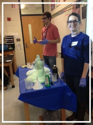 High School Outreach at Henry Clay HS - Members of  UK AAPS visited Henry Clay High School's Biology class to perform some science demonstrations and inspire some students to pursue careers