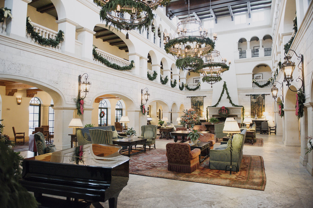 The Lobby at the Cloister Hotel Sea Island Photo by Gigi de Manio