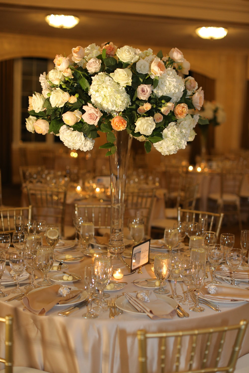Sara Kovel Events Omni Parker House Wedding Centerpiece