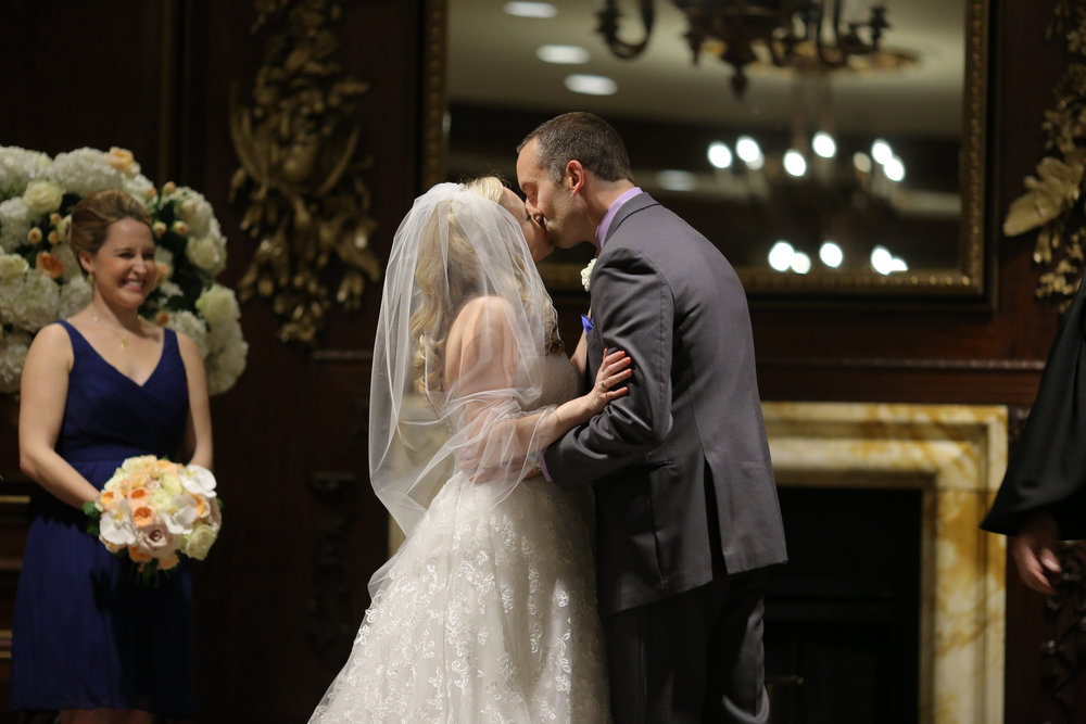 Sara Kovel Events Omni Parker House Wedding First Kiss