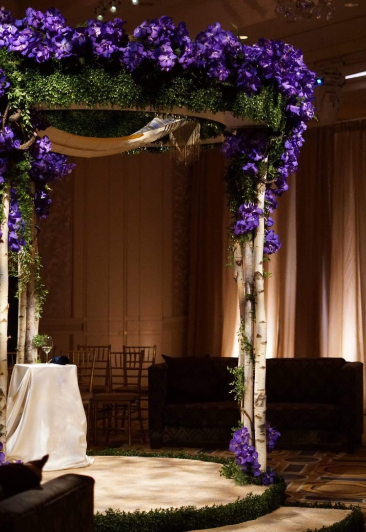 Sara Kovel Events Jewish Wedding Chuppah Four Seasons Boston Marc Hall Designs