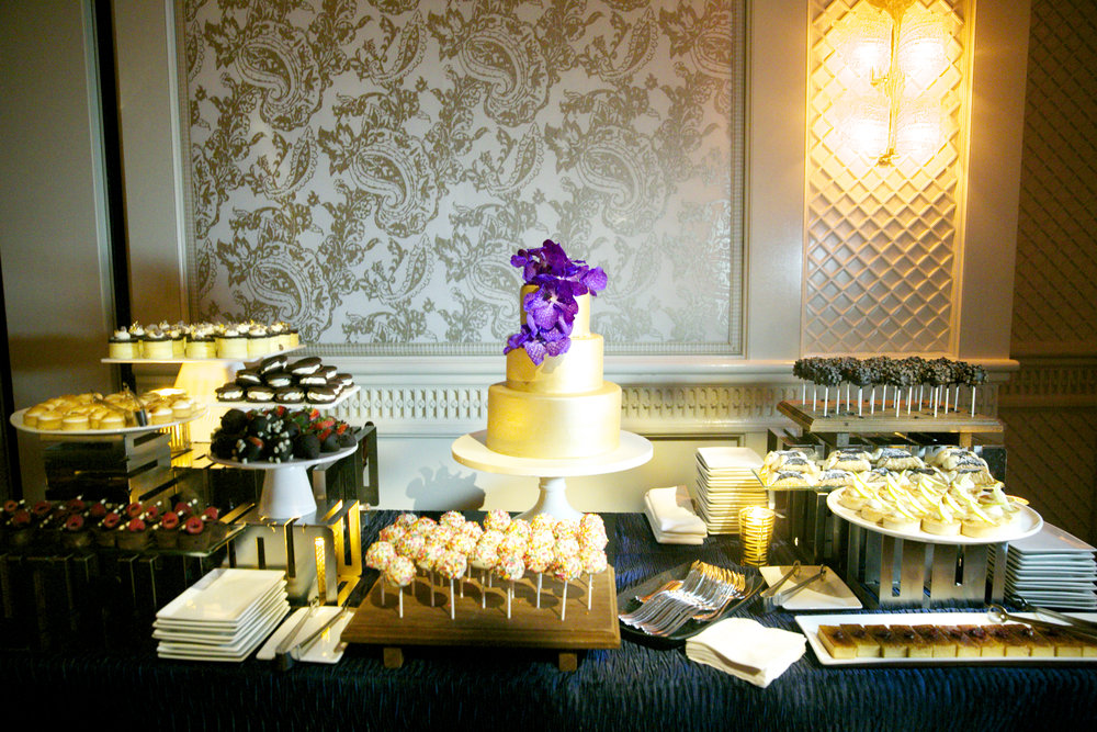 Sara Kovel Events Boston Wedding Planner Dessert Buffet Four Seasons Boston Wedding Cake