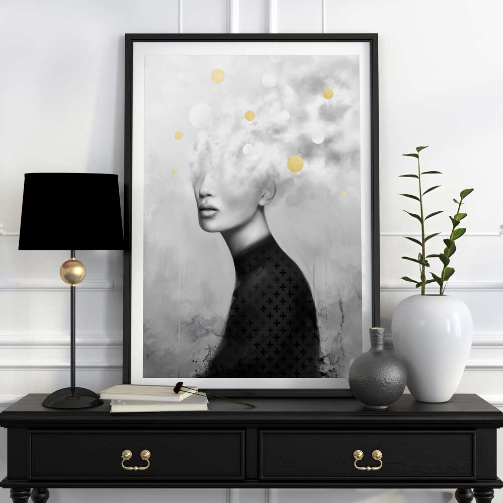 'GET AWAY' - Gold Leafed Limited Edition Print of only 50