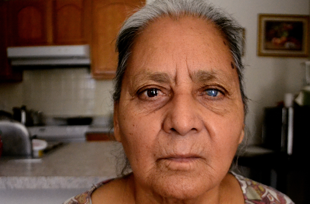 Margarita Arredondo of Somerton, Arizona, poses for a portrait on Nov. 3, 2011. She lost sight in her left eye and most of the sight in her right eye due to diabetes complications.