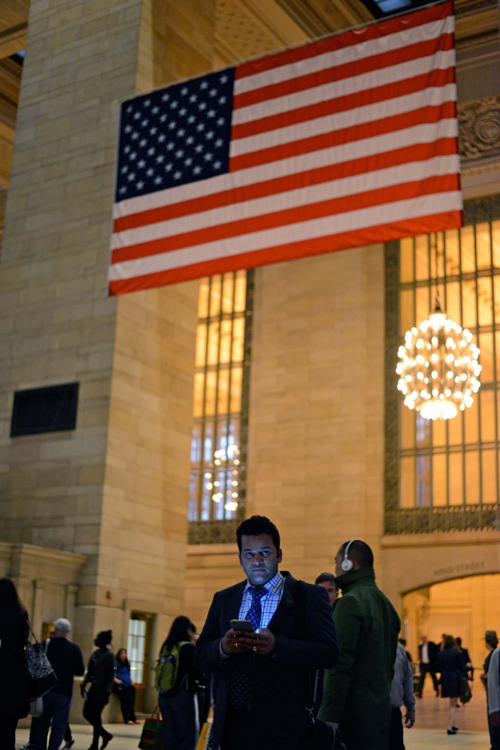 A commuter walks through Grand Central Terminal in New York on May 18, 2015.