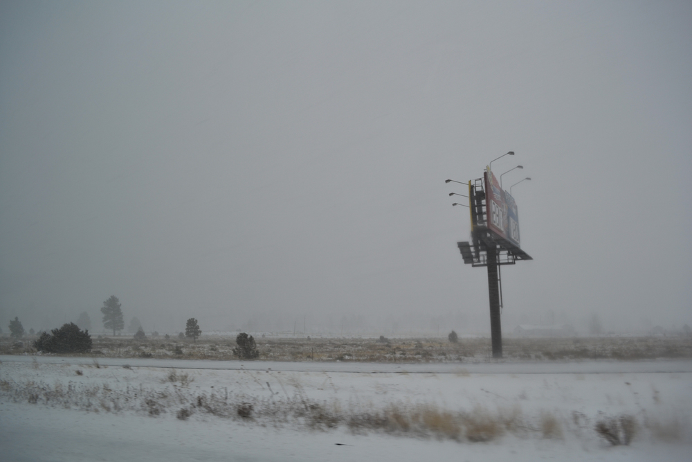 A snowstorm in northern Arizona, on Dec. 29, 2010.