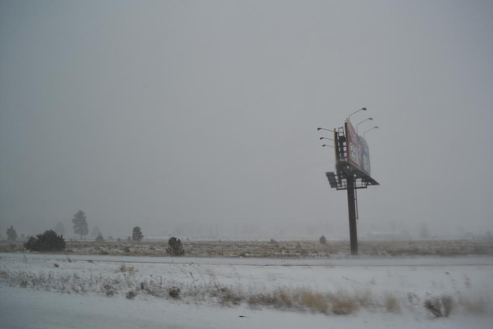 A snowstorm in northern Arizona, on Dec. 29, 2010.