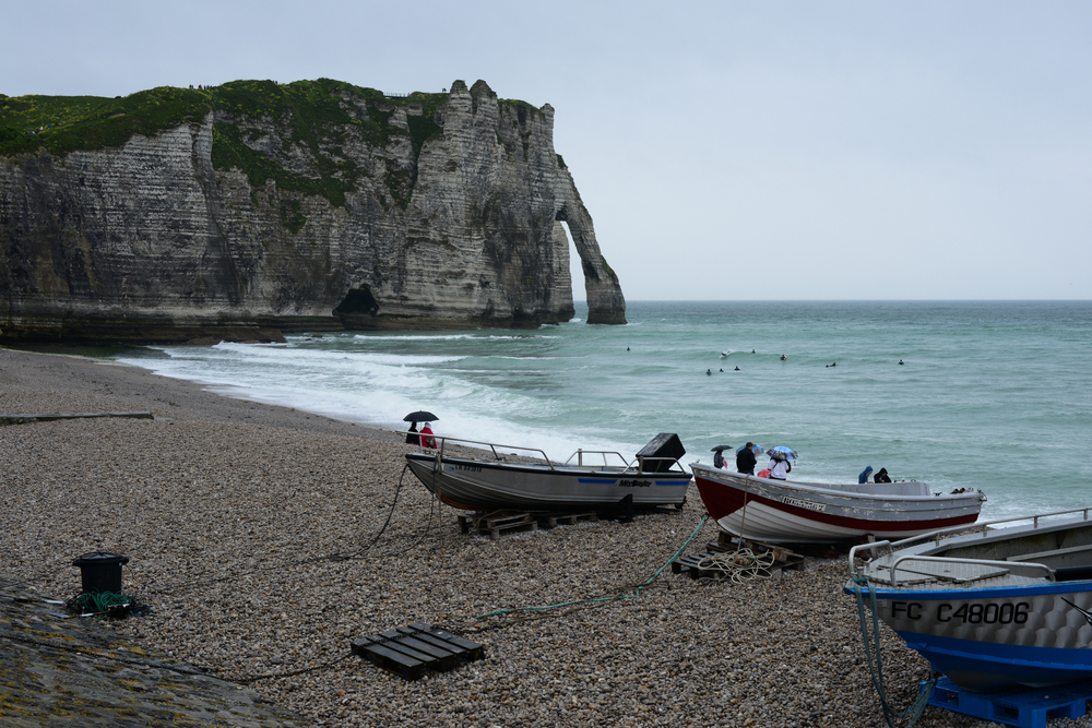 The cliffs of Etretat in Normandy, France, on May 8, 2014.