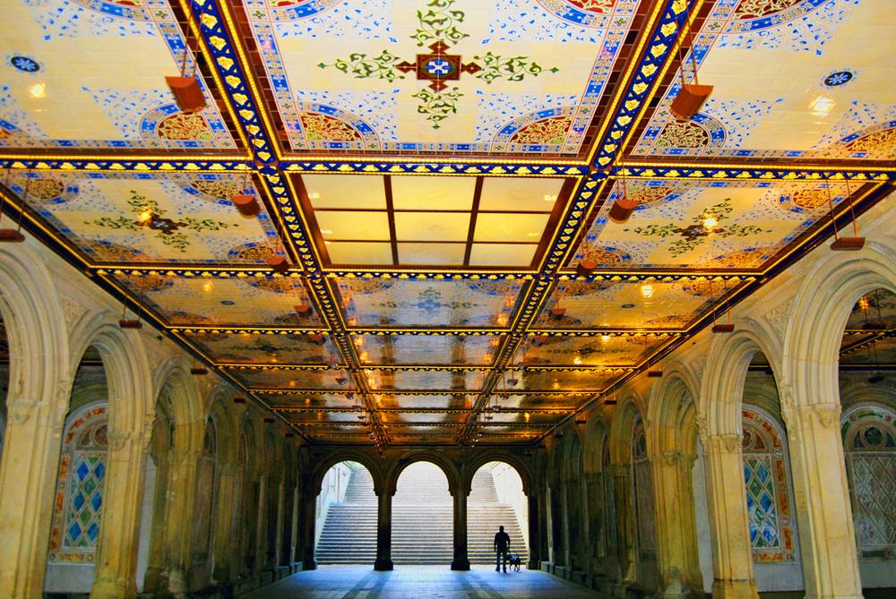 Bethesda Arcade in Central Park