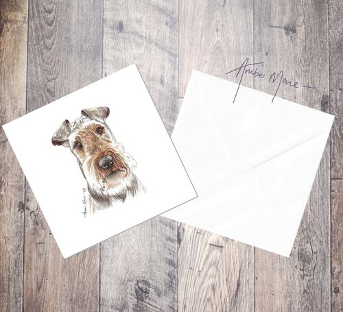 Welsh terrier greetings card amber marie biro portraits welsh terrier greetings card m4hsunfo