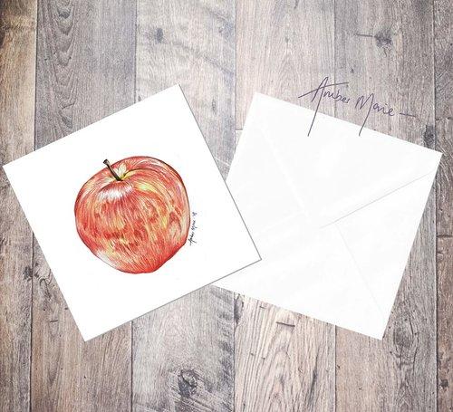 Apple thank you teacher greeting cards amber marie biro apple thank you teacher greeting cards m4hsunfo