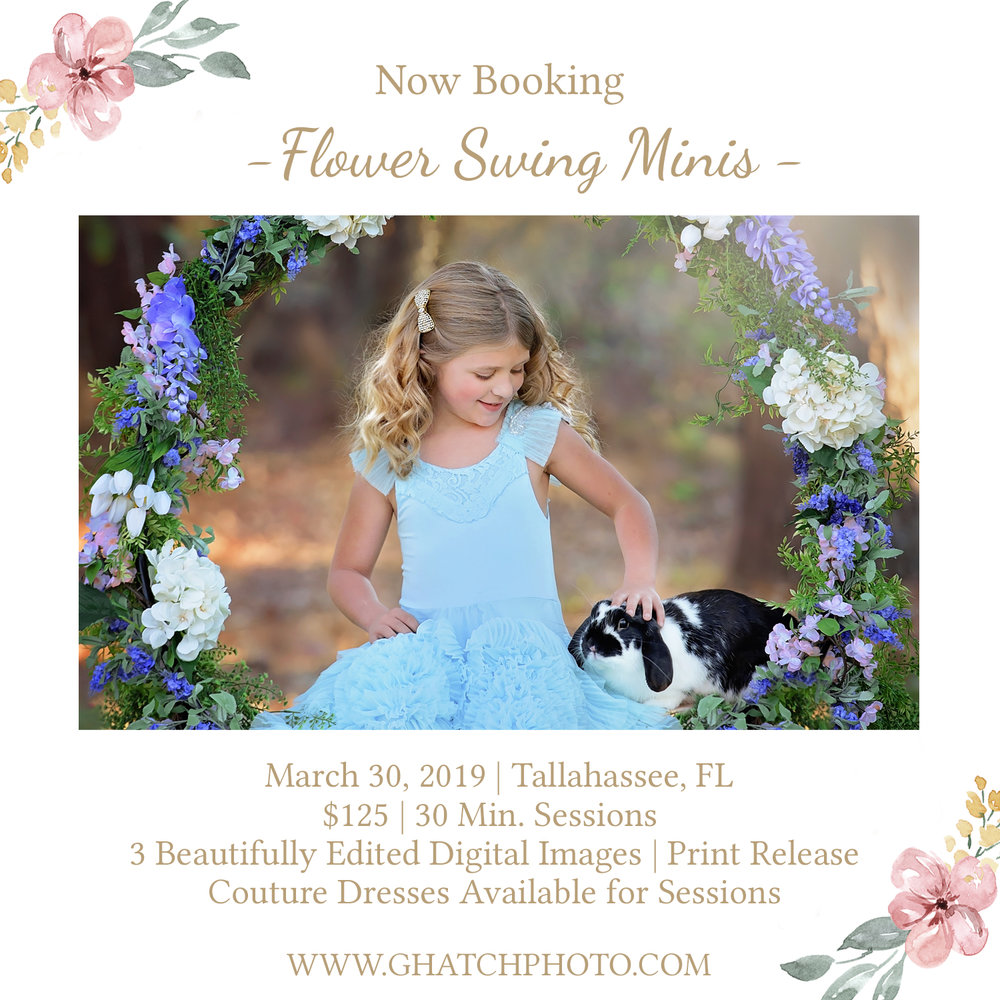 Flower Swing Minis! - Spring is right around the corner! Last year we sold out for these. CLICK HERE TO SAVE YOUR SPOT!