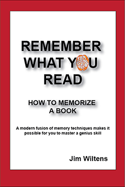 Remember What You Read:  How to Memorize a Book  $12. Paperback, 80 pages