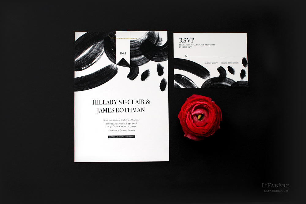 Artsy & Chic wedding invitation design by LaFabère. lafabere.com