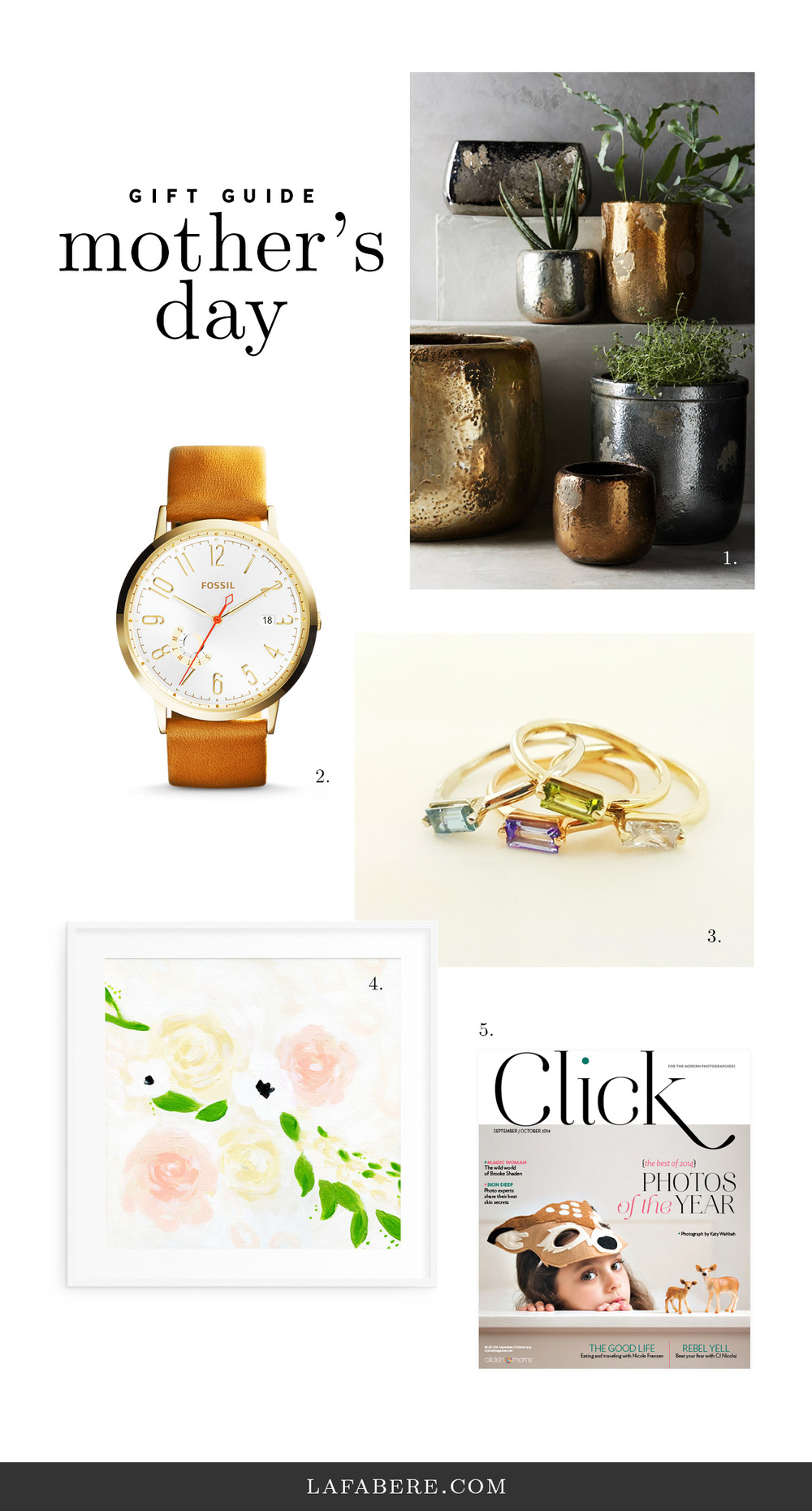 Mother's Day gift guide at lafabere.com/blog